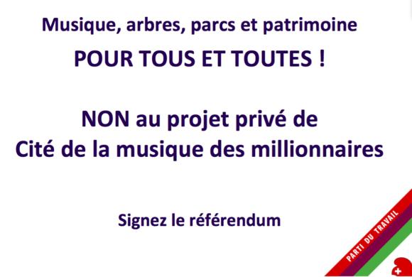 Référendum municipal (Ville de Genève) contre la Cité de la musique