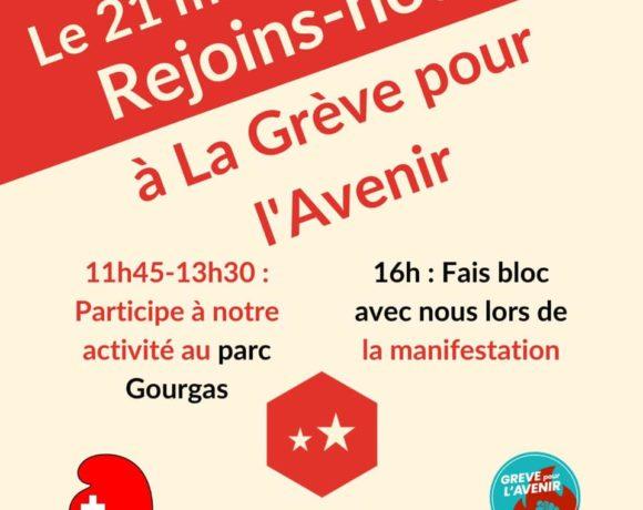 Le 21 mai, rejoignez-nous pour la Grève pour l'avenir!